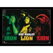 "Ace Framing ""Bob Marley Iron Lion Zion"" Framed Poster, 24"" x 36"""