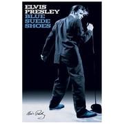 """Ace Framing """"Elvis Blue Suede Shoes (WC)"""" Framed Poster, 36"""" x 24"""""""