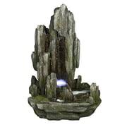 "Yosemite 40"" Cascading Water Basin Fountain, Moss Green"