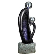 "Yosemite 46 1/2"" 2 Headed Fountain, Polished Brown/Silver/Purple"