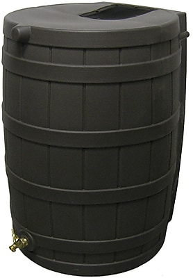 Good Ideas 50 Gallon Rain Wizard Rain Barrel, Black 1241326