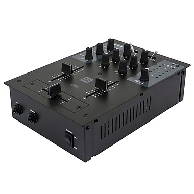 Monoprice® 614320 2 Channel DJ Mixer With USB