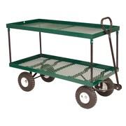 "Millside Industries 1742 20"" x 38"" Double Deck Metal Wagon"