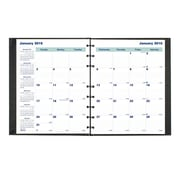 "Blueline® 2016 MiracleBind® Hard Monthly Planner, Aug. 2015 - Dec. 2016, Black, 9-1/4"" x 7-1/4"" (CF1200C.81)"