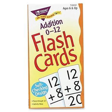Trend Enterprises Addition 0-12 Flash Cards