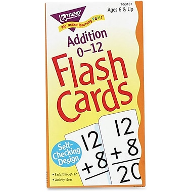 Trend Enterprises Subtraction 0-12 Flash Cards