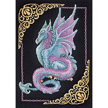 Mythical Dragon Picture Counted Cross Stitch Kit, 11