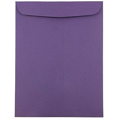 JAM Paper® 9 x 12 Open End Catalog Envelopes, Dark Purple, 25/pack (51287430)