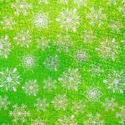 JAM Paper® 25 sq ft Green Snowflake Glitter Wrapping Paper, Green, Sold Individually