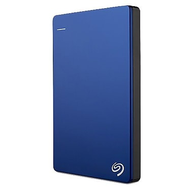 Seagate Backup Plus Slim 1TB Portable USB 3.0 External Hard Drive with Mobile Device Backup, Blue (STDR1000102)