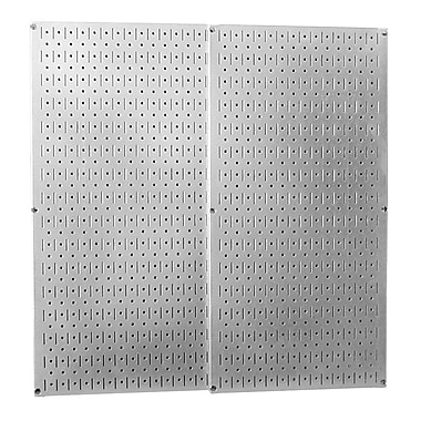 Wall Control Combo Metal Pegboard Panel, Gray, 2/Pack