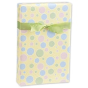 """24"""" x 417' Baby Dots Gift Wrap"""
