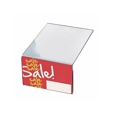 Azar Plastic Shelf Sign Holder, 3.5