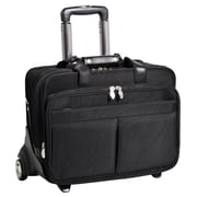 "McKlein Roosevelt Removable-Wheeled 17"" Laptop Case with Removable Laptop Sleeve, Black"