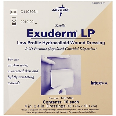 Exuderm® Lp Thin Hydrocolloid Dressings, 4