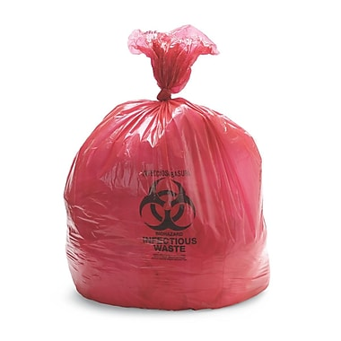 Medline Biohazard Liners, 33 gal, 30