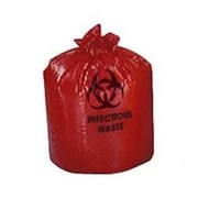 "Medline Biohazard Liners, 45 gal, 40"" L x 48"" W, Red, 250/Pack"