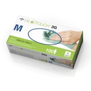 Medline Aloetouch MDS195175 Medium 3G Powder-free Latex-free Synthetic Vinyl Exam Gloves 1000/Pack, Green
