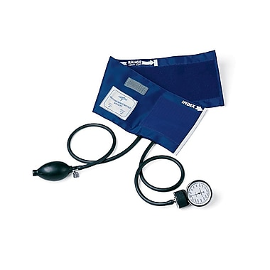 Medline PVC Handheld Aneroid Sphygmomanometers, Black, Adult Large