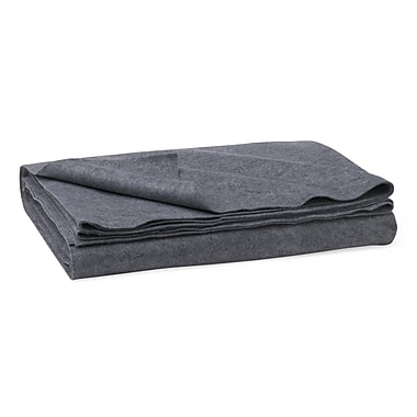 Medline Polyester/Cellulose Emergency Blankets, Gray, 80