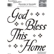 "RoomMates® God Bless This Home Quote Peel and Stick Wall Decal, 10"" x 13"""