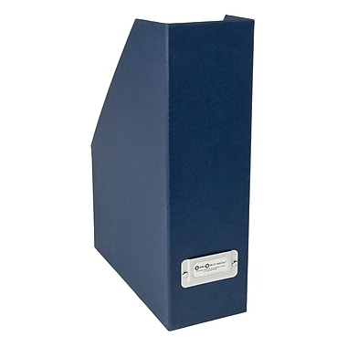 Bigso Viktoria Magazine Holder Navy Blue