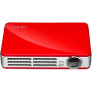 Vivitek Qumi Q5 HD720p 1600 x 1200 Pixels LED Pocket Projector, Red