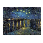 """Trademark Global Vincent van Gogh """"A Starry Night Over the Rhone"""" Canvas Art, 24"""" x 32"""""""