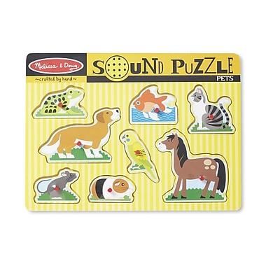 Melissa & Doug 730 Pets Sound Puzzle