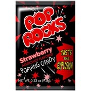 Pop Rocks Strawberry, 0.66 oz. Packs, 24 Packs/Box