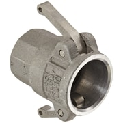 "Dixon™ Valve 100 Aluminum Type D Coupler, 1"" FNPT x 1"" Female Quick"