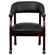Flash Furniture Vinyl Conference Chair, Black (BZ100BLK)