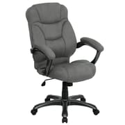 Flash Furniture Microfiber Office Chair, Fixed Arms, Gray