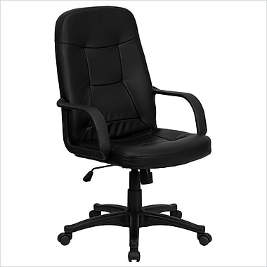 Flash Furniture High-Back Vinyl Executive Chair, Fixed Arms, Black