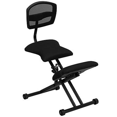 Flash Furniture Ergonomic Mesh Kneeling Task Chair, Armless, Black