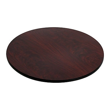 Flash Furniture 30'' Round Reversible Laminate Table Top, Black or Mahogany