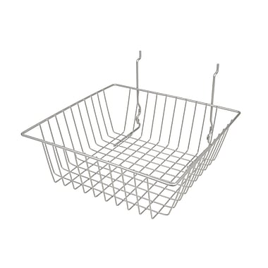 Econoco BSK13/EC Small Basket, Epoxy Chrome, Semi-Gloss