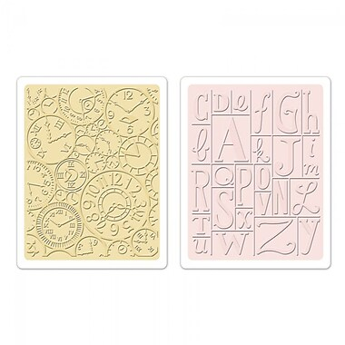 Sizzix® Textured Impressions Embossing Folder, Clocks and Print Blocks Set