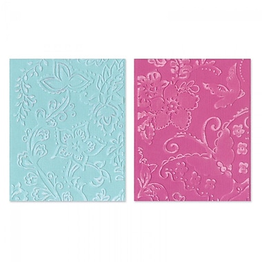 Sizzix® Textured Impressions Embossing Folder, Far Out Florals Set