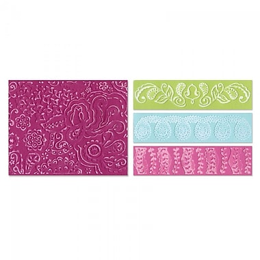 Sizzix® Textured Impressions Embossing Folder, Bohemian Botanicals Set