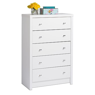Prepac Calla 5-Drawer Chest, White