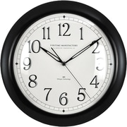 "FirsTime® Black Whisper 11"" Round Wall Clock, Black"