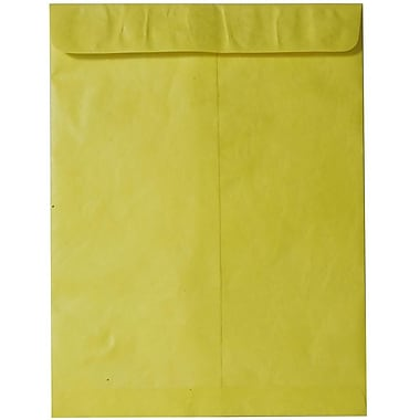 JAM Paper® 10 x 13 Tyvek Envelopes, Catalog Open End with Self Adhesive Closure, Yellow, 25/pack (V021385)