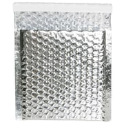 "JAM Paper® 6"" x 6 1/2"" Square Metallic Bubble Envelopes w/Peel and Seal Closure, Silver, 12/Pack"