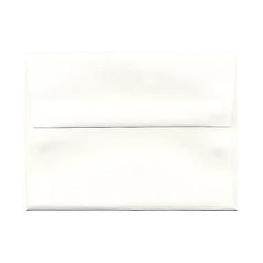 JAM Paper® A6 Invitation Envelopes, 4.75 x 6.5, Strathmore Bright White Pinstripe, 25/pack (43419)