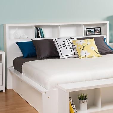 Prepac – Tête de lit Calla pour très grand lit, blanc