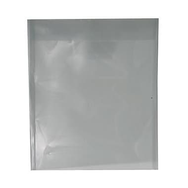 JAM Paper® Plastic Envelopes with Tuck Flap Closure, Letter Open End, 9 7/8 x 11 3/4, Smoke Grey Poly, 12/Pack (1541730)