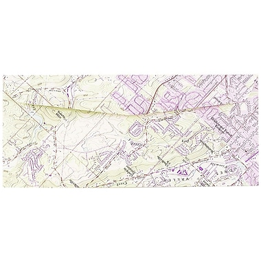 JAM Paper® #10 Business Envelopes, 4 1/8 x 9 1/2, Made from Real Surplus Maps, 1000/carton (0163729B)