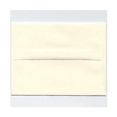 JAM Paper® A2 Invitation Envelopes, 4 3/8 x 5 3/4, Strathmore Natural White Pinstripe, 25/pack (50170)
