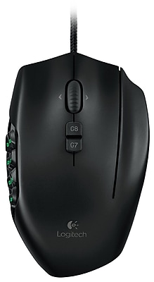 Logitech G600 Wired MMO Gaming Laser Mouse, Black (910-002864)